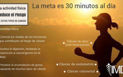 La actividad física reduce el riesgo de estos tipos de cáncer