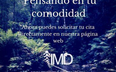 Solicita tus citas en IMD en nuestra página web