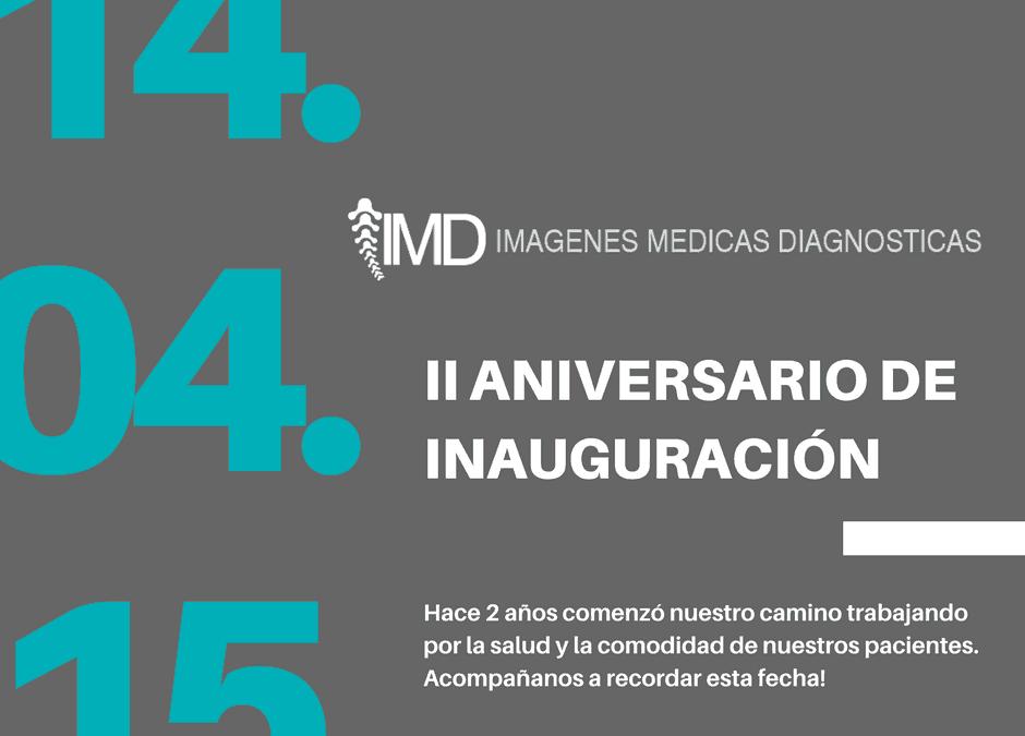 Aniversario de la inauguración de IMD