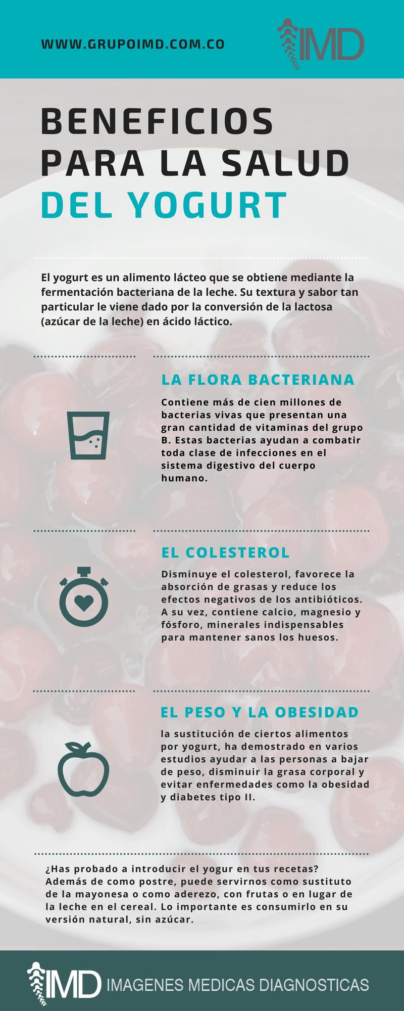 beneficios del yogurt para la salud
