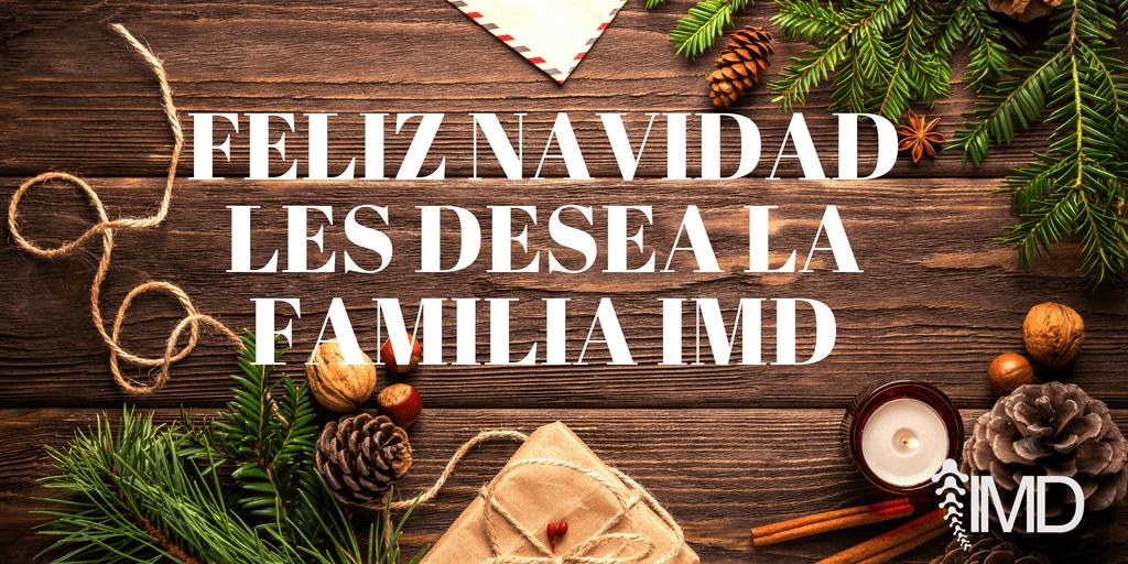 Feliz Navidad les desea la familia IMD